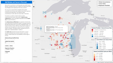 Spatial Analysis of Nitrates and Cancer in Wisconsin